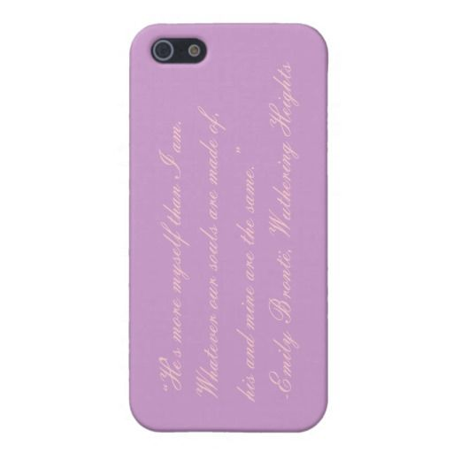 Emily Bronte, Wuthering Heights Quote iPhone Case iPhone 5 Cover