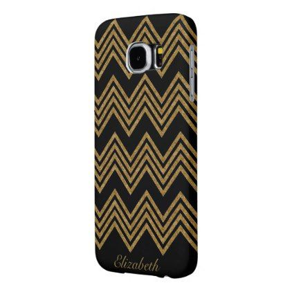 Gold Glitter Personalized Samsung Galaxy S6 Case - monogram gifts unique design style monogrammed diy cyo customize