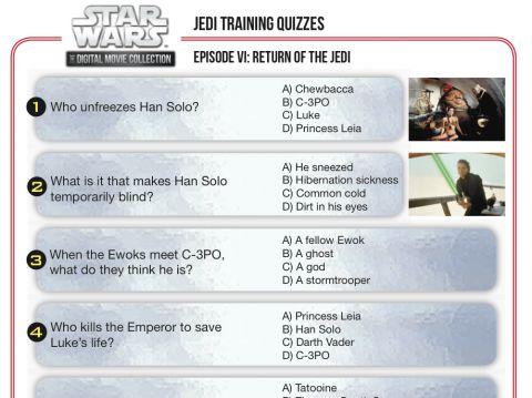 Star Wars Movie Trivia Quiz