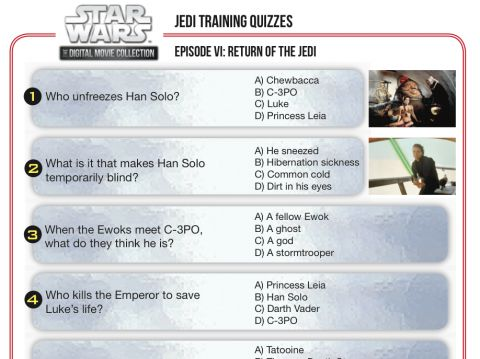 Star Wars Movie Trivia Quiz