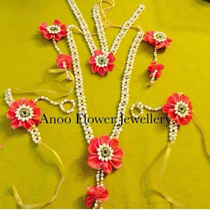Flower Designer Wedding Mehndi Jewellery : Best floral jewellery for mehndi images on pinterest