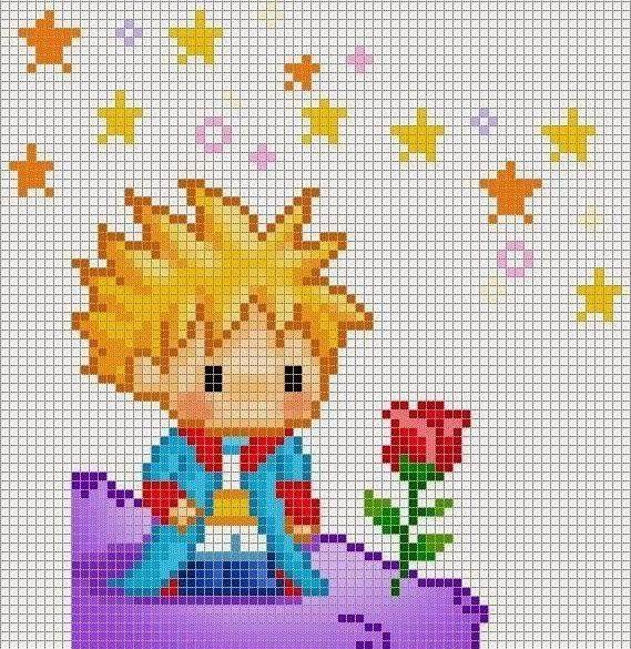 Little Prince http://nikiad.blogspot.com/2014/01/little-prince-cross-stitch-patterns.html