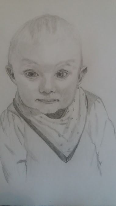 a drawing of a friend's baby