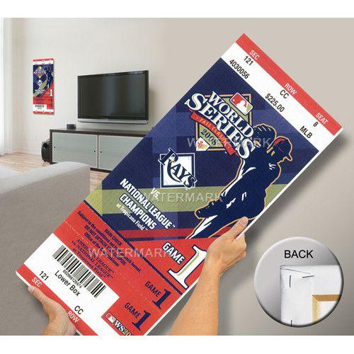 2008 World Series Mega Ticket - Tampa Bay Rays (First World Series)