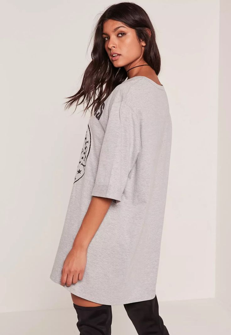 Show some band love with this grey Ramones t-shirt dress.