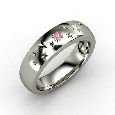 The Supernova Band #customizable #jewelry #pinksapphire #gold #ring