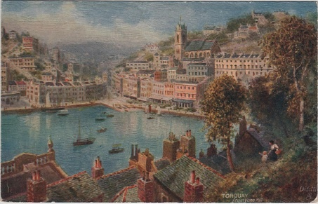 Torquay from Vane Hill, Devon, England. Artist: H.B.Wimbush