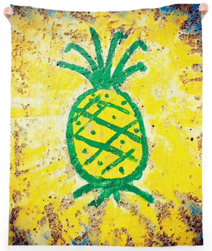 Concrete Pineapple Beach Towel from Print All Over Me