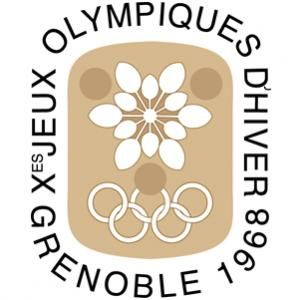 Official logo for the 1968 Olympic games in Grenoble