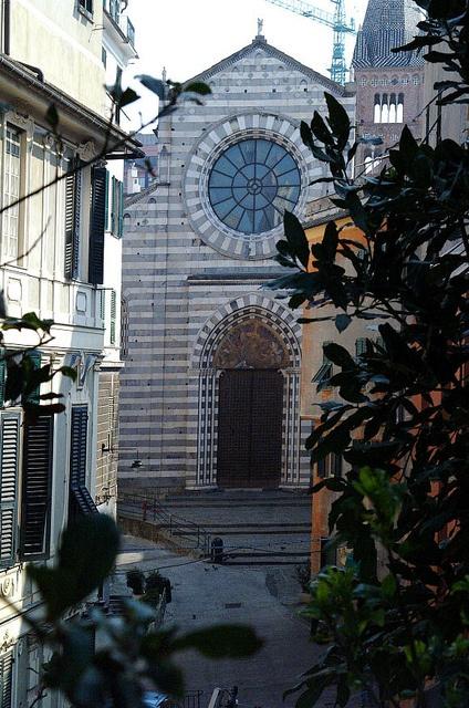 Sant'Agostino Church in the historic center of Genoa