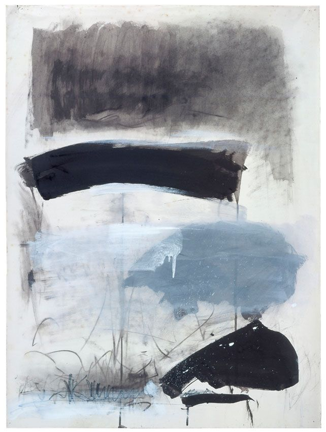 Untitled, 1970. Ink, gouache and pastel on paper, 29 1/2 x 21 3/4 inches (74.9 x 55.2 cm). Collection of the Joan Mitchell Foundation, New York.    © Estate of Joan Mitchell.