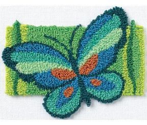Butterly Fancy Punch Needle Kit-7''X5''