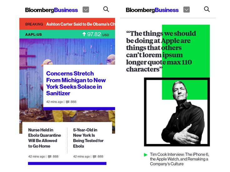 Haters to the Side: Bloomberg's Loud Redesign Heralds the Future of Web News