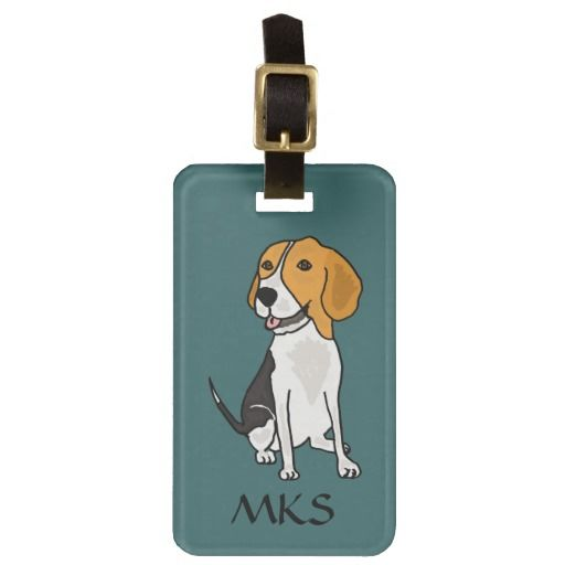 Awesome Beagle Luggage Tag #beagles #dogs #pets #funny #animals #luggagetags #art #zazzle #petspower