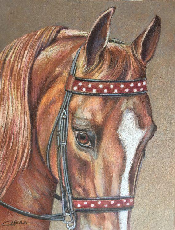 Dessin Original D Art Equin Arabe In 2020 Original Drawing