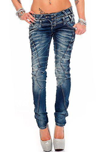 Cipo   Baxx - Jeans - Slim - Femme Bleu Bleu - Bleu - 33W x 34L ... 4694a9cae8