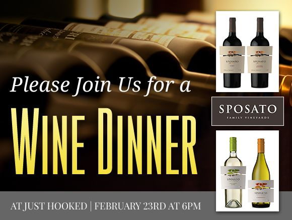 #OCEvents - Wine Dinner at Just Hooked Ocean City MD on February 23, 2017... #oceancitycool