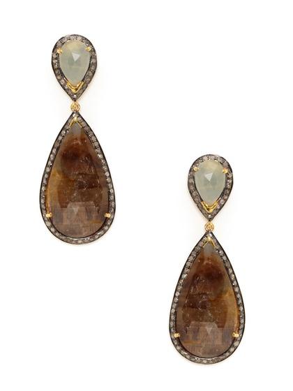 Diamond & Multicolor Sapphire Double Teardrop Earrings by Amrapali on Gilt.com