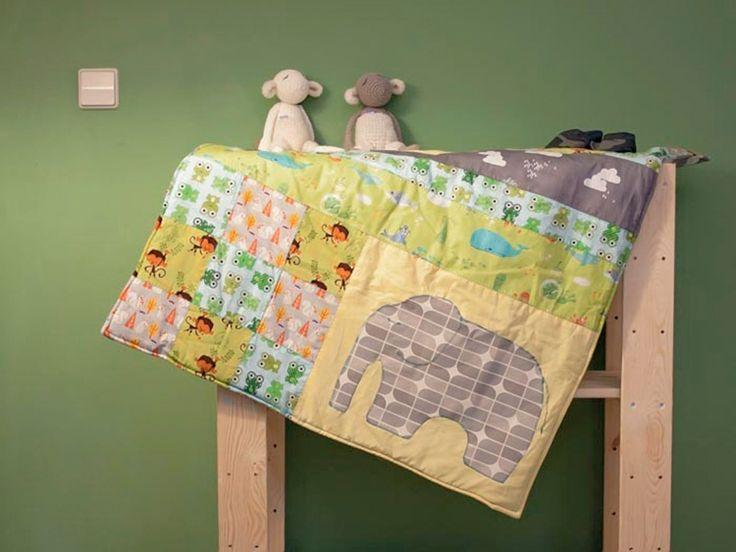 Tutorial DIY: Uszyj patchworkowy kocyk dla dzieci przez DaWanda.com