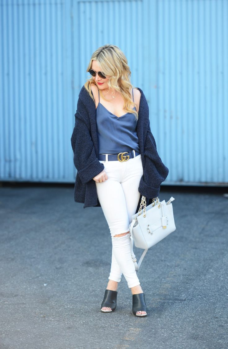 White Denim, Oversized Cardigan. - http://thehuntercollector.com/white-denim-oversized-cardigan/