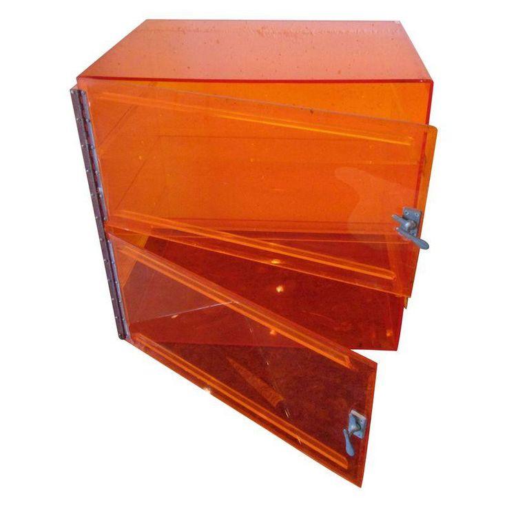 Postmodern Plexiglass Orange Storage Cabinet - $250 on Chairish.com