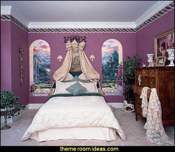 Castle Windows Mural Princess Bedroom Ideas Princess Room Decor Princess Style Bedrooms Princess Room Decor Princess Theme Bedroom Princess Bedroom Diy