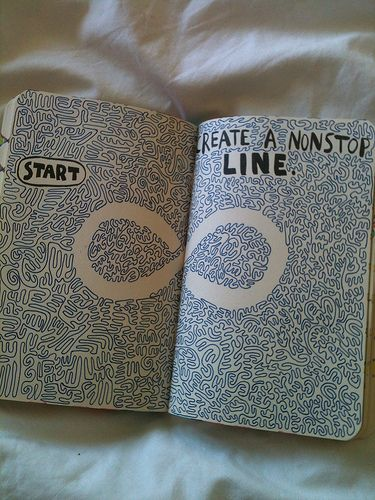 Wreck this journal Create A Nonstop Line