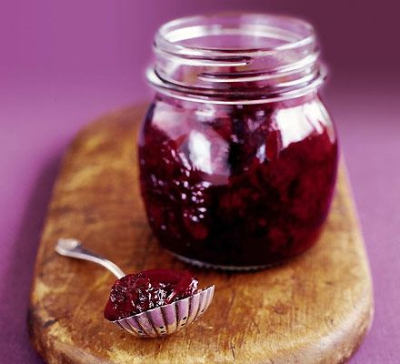 Spicy blackberry chutney- for our ever expanding bramble bush!