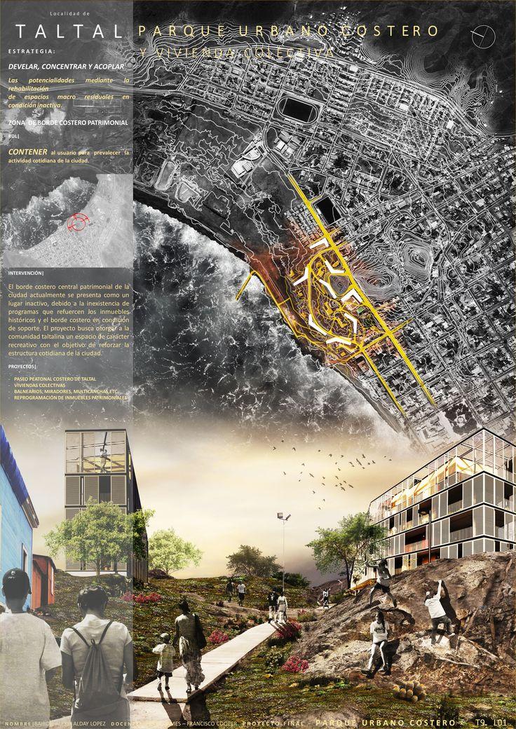 lamina de fundamentacion  - parque urbano y vivienda colectiva - propuesta de intervencion urbana en la localidad de Taltal