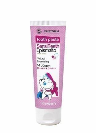 Οδοντόκρεμα Φυσικής επισμάλτωσης, για παιδιά από 6 ετών, με Φθόριο 1.450 ppm και Ασβέστιο.Ενισχύει φυσικά το σμάλτο των δοντιών και σταματά την καταστροφή τους από τα οξέα των τροφών και την τερηδόνα. Παράλληλα, προστατεύει από τα μικρό...
