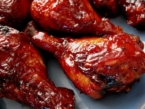 BBQ chicken in the oven