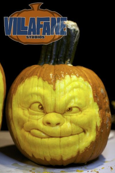 Thinkin' Pumpkin Sculpture/Carving by Ray Villafane