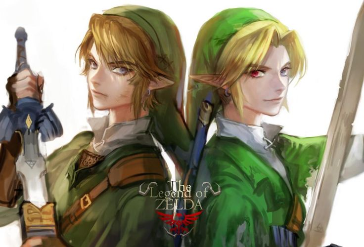 Link | Twilight Princess & Ocarina of Time why does time have a red eye?