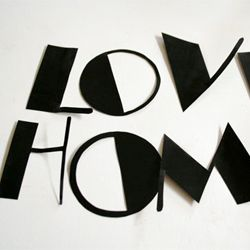 An easy DIY on how to make vinyl letter decals. @ By Wilma
