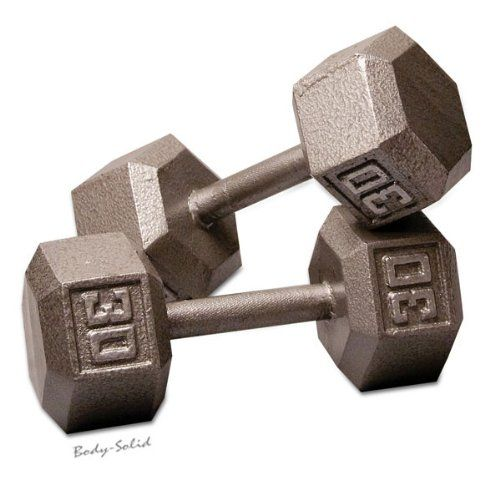 Superb Body Solid Iron Hex Dumbbell Pairs