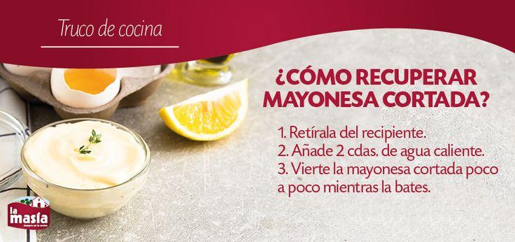 ¿Cómo arreglar #mayonesa cortada? Es más fácil de lo que parece. Prueba este #trucodecocina y disfruta siempre de una exquisita mayonesa casera.