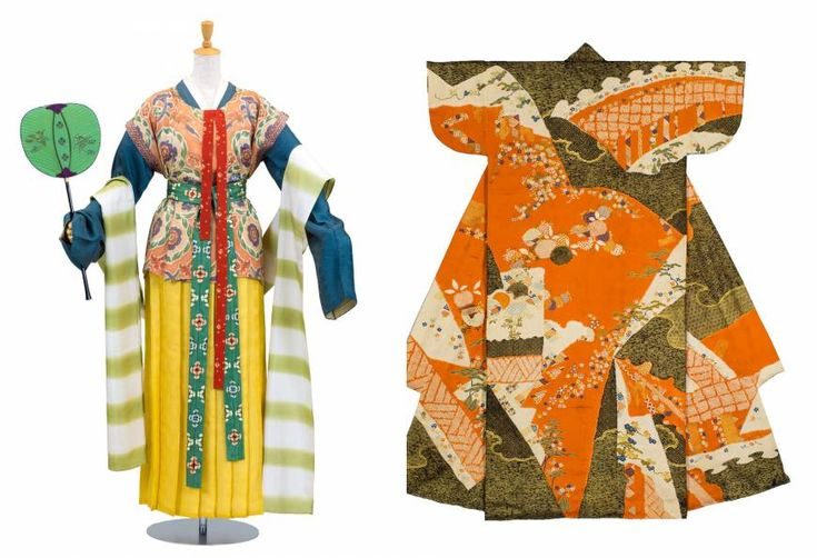 Nara Period-style (710-794) karaginu (ancient Chinese garments); Perfect replica: A Momoyama Period-style (1573-1615) kosode (short-sleeved kimono)