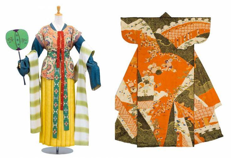 Nara Period-style (710-794) karaginu (ancient Chinese garments); Perfect replica: A Momoyama Period-style (1573-1615) kosode (short-sleeved kimono)