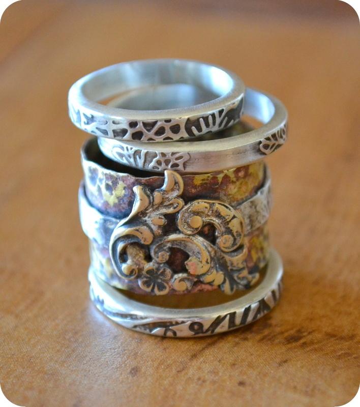 stacking rings in multi metal