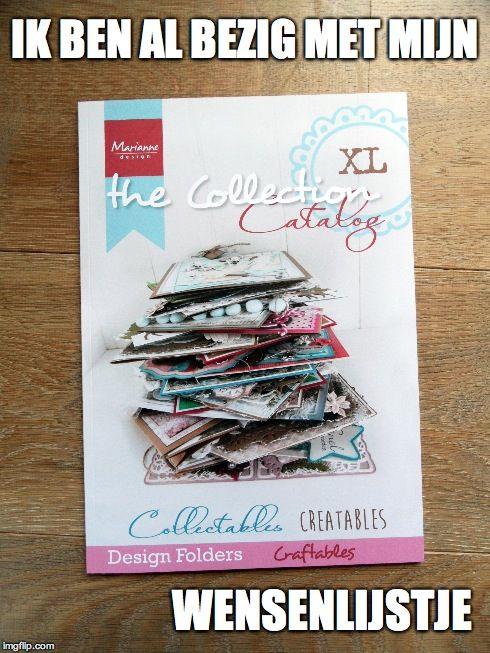 Mega handig voor je Sinterklaas of Kerst verlanglijstjes #Mariannedesign #cardmaking #Creatables