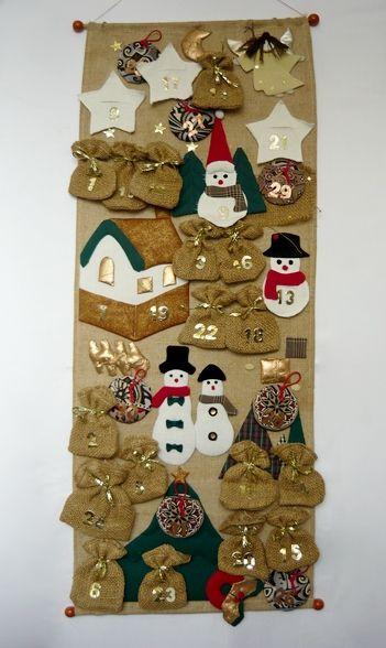 Рождественский адвент календарь своими руками