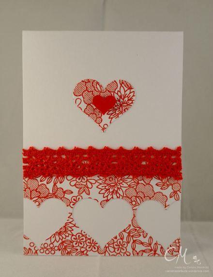 Caros Bastelbude: Valentinstag °2, Stampin' Up!, Something Lacy, Herzen
