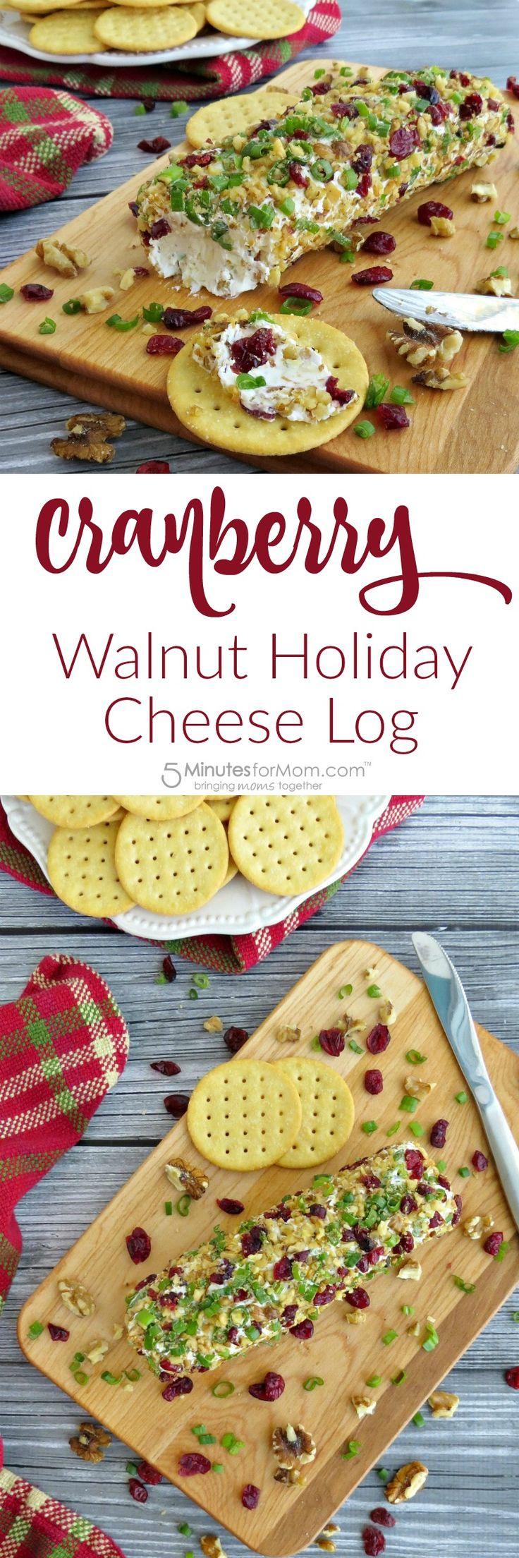 Cranberry Walnut Holiday Cheese Log Recipe