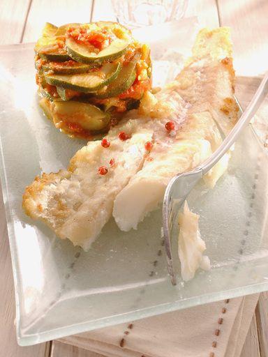 Filets de cabillaud marinés à l'huile d'olive et ses légumes : Recette de Filets de cabillaud marinés à l'huile d'olive et ses légumes - Marmiton