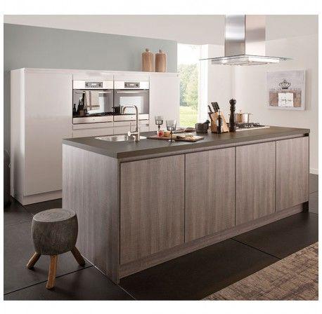 Superkeukens Kitchen Benson / Ensor (brilliant white gloss / hazel oak)