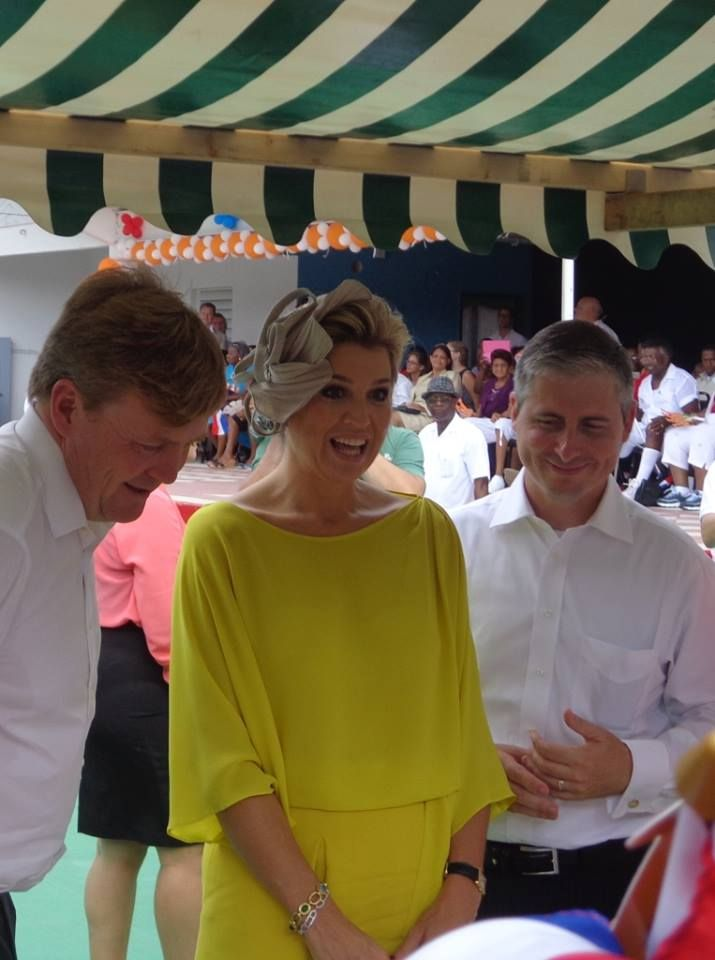 Dutch Royal visit King Willem Alexander & Queen Maxima, 14th of November 2013, Saba - Dutch Caribbean. Photo credit: Hanneke Magee   #Saba #Royal #Netherlands #Caribbean #WillemAlexander #Maxima