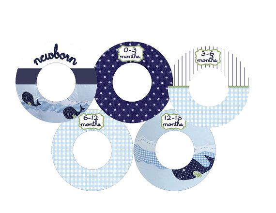 cute closet dividers for baby's clothes made out of cd's!