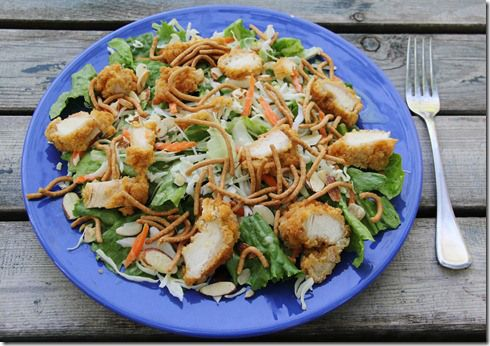 Oriental Chicken Salad w/ dressing- just like Applebee's recipe