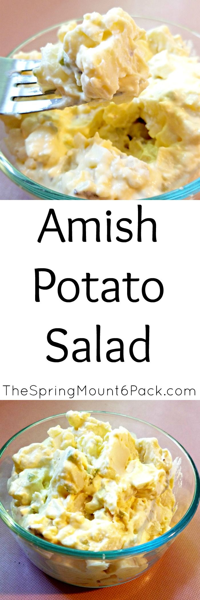 Amish Potato Salad is perfect for a get together and is a great recipe for a picnic. This potato salad recipe will be a hit.