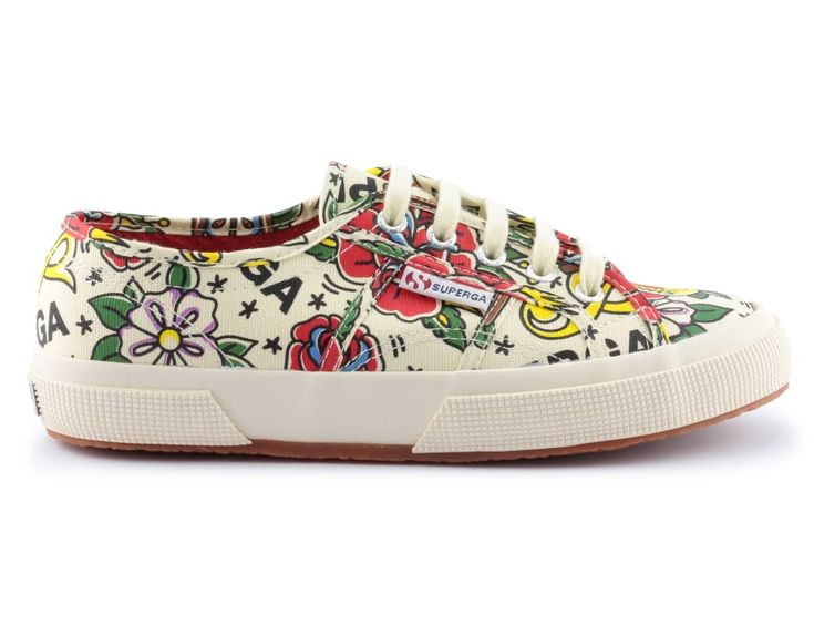 trampki superga 2750 fantasy cotu tattoo flash offwht